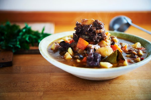 Oxtail stew, close-up